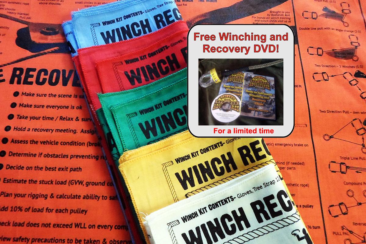 Badlands Winching Recovery Bandana With FREE Winching DVD!